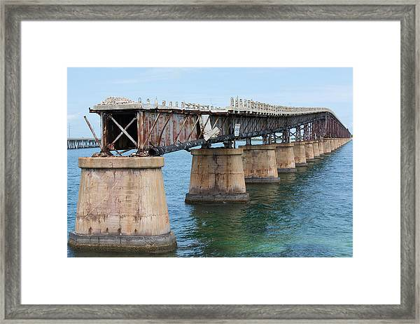 Relic Of The Old Florida Keys Overseas Railroad Framed Print