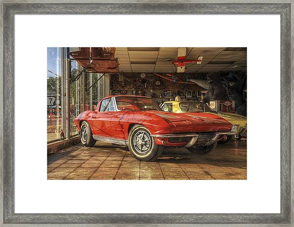 Relics Of History - Corvette - Elvis - Nehi Framed Print