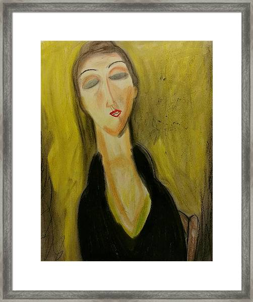 Sophisticated Lady With The Dreamy Eyes Framed Print