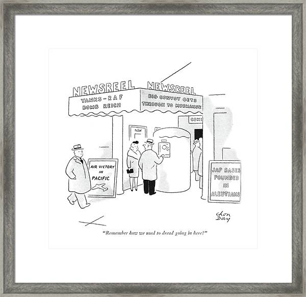 Remember How We Used To Dread Going In Here? Framed Print