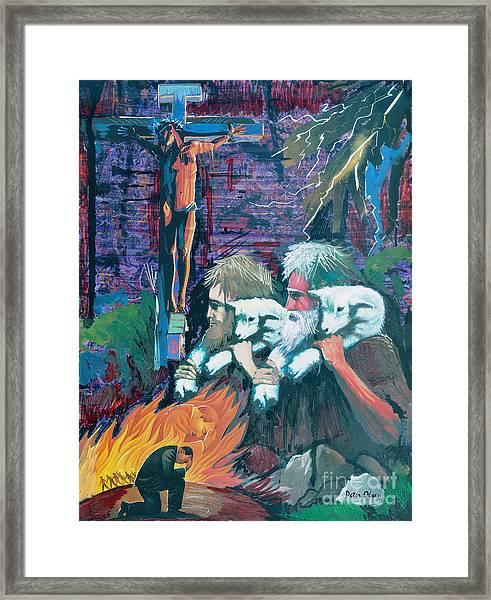 Remember The Shepherd Framed Print by Peter Olsen
