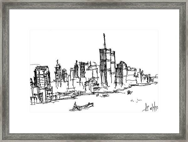 Remember World Trade Center Framed Print