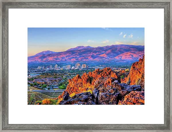 Reno Nevada Sunrise Framed Print