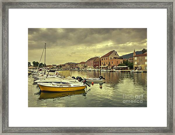 rent A boat  Framed Print