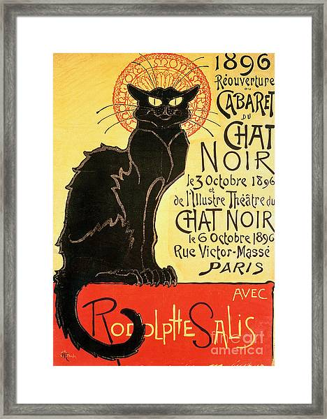Reopening Of The Chat Noir Cabaret Framed Print