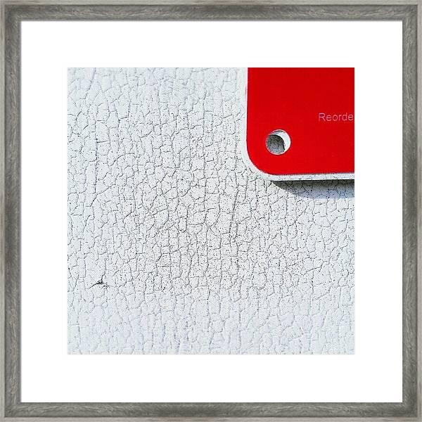 Reorder Framed Print