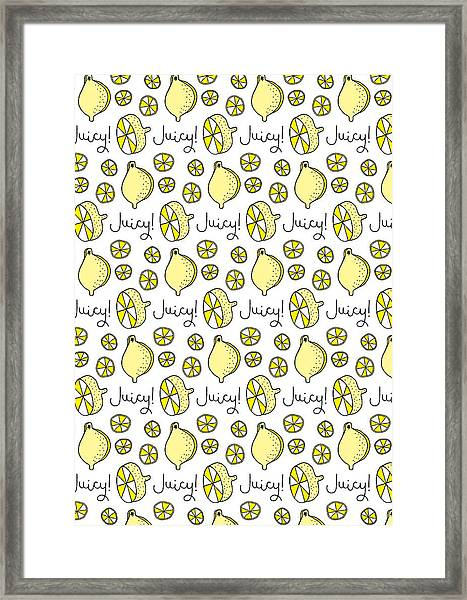 Repeat Prtin - Juicy Lemon Framed Print
