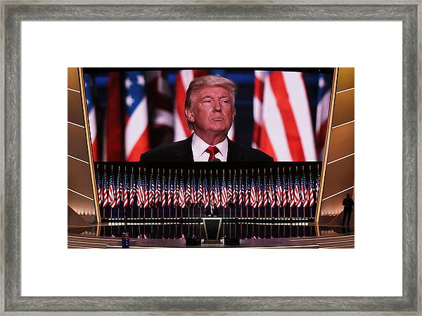 Republican National Convention: Day Four Framed Print by Alex Wong
