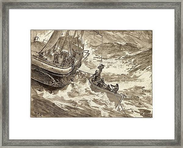 Rescue At Sea. Framed Print