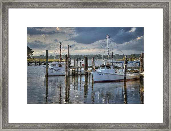 Rescue Fishing Boats Framed Print by Williams-Cairns Photography LLC