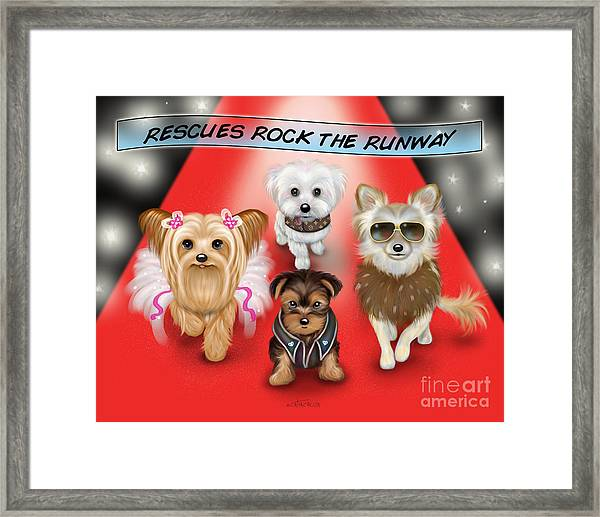 Rescues Rock The Runway Framed Print