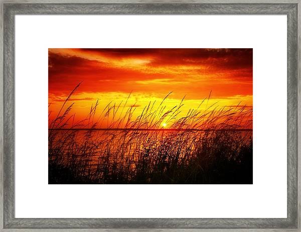 Reservoir Sunset 3 Framed Print