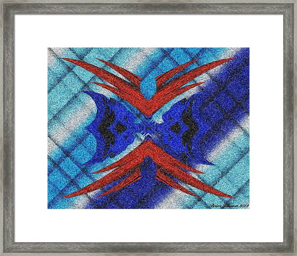Resist Evil 3d Swirly Framed Print