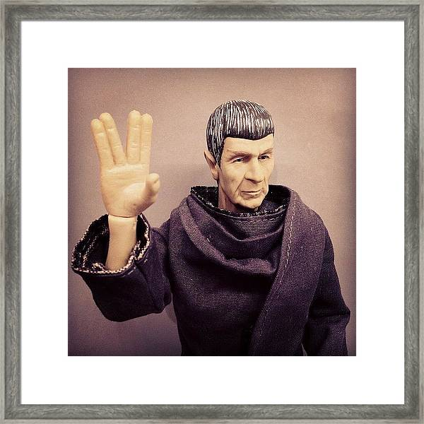 Rest In Peace, #spock... You'll Be Framed Print