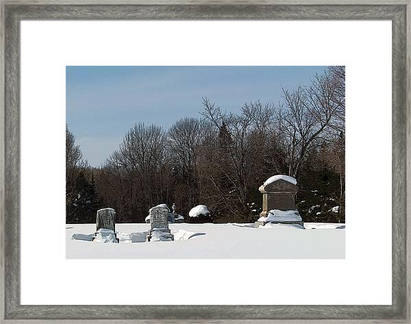 Resting In Peace Framed Print