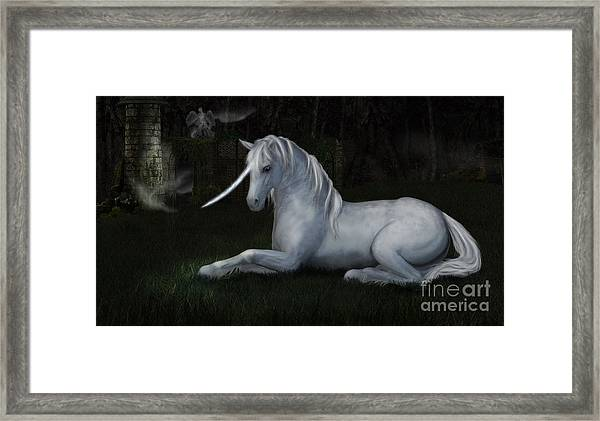 Resting In The Ruins Framed Print