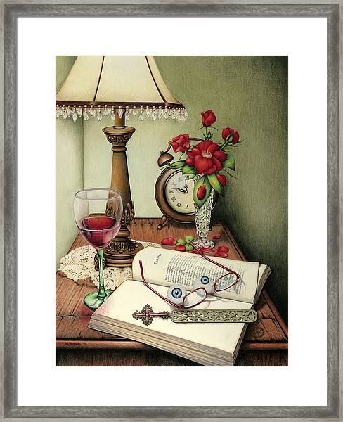 Resting My Eyes Framed Print