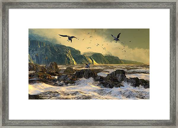 Restless Is The Sea Framed Print