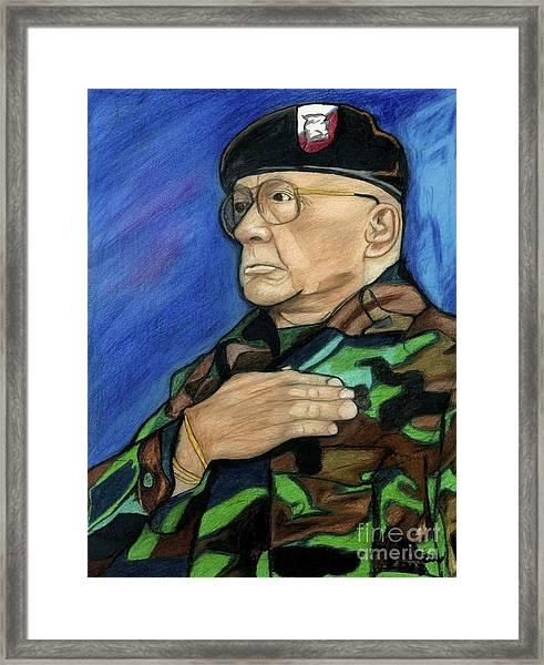 Ret Command Sgt Major Kittleson Framed Print