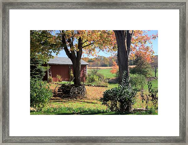 Retired Wagon Framed Print