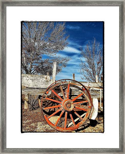 Retirement Blues - U S 395 California Framed Print