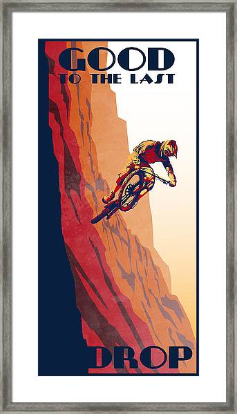Retro Cycling Fine Art Poster Good To The Last Drop Framed Print