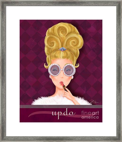 Retro Hairdos-updo Framed Print