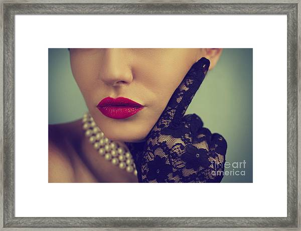 Retro Portrait Framed Print