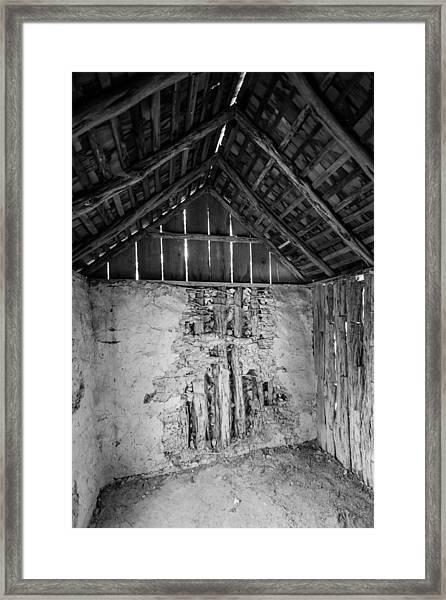 Revealed Cross Framed Print