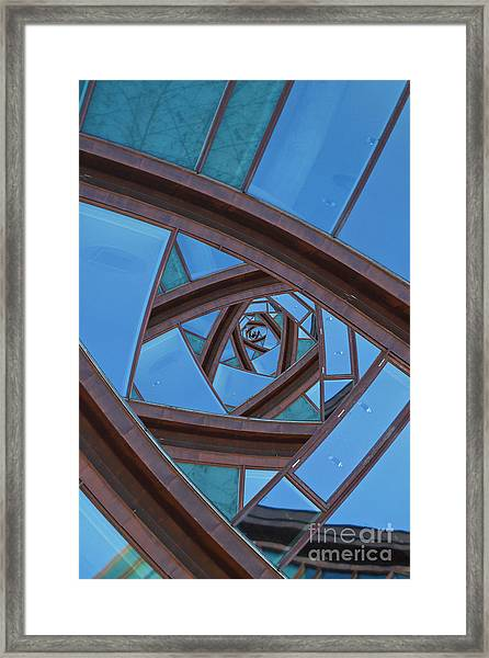 Revolving Blues. Framed Print