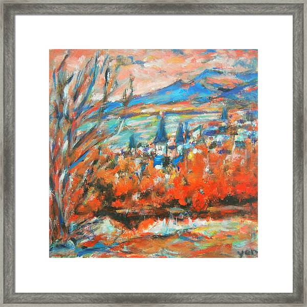 Framed Print featuring the painting Reykjavik by Yen