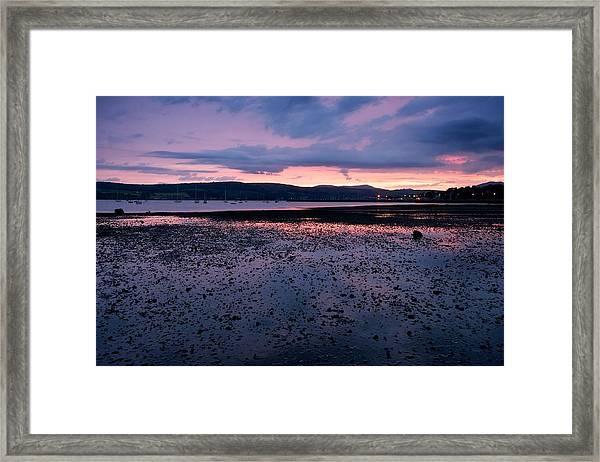 Rhu Marina Sundown Framed Print