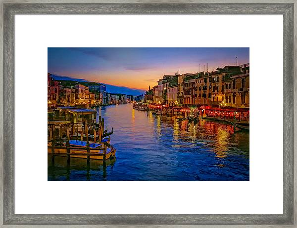 Rialto Evening Framed Print