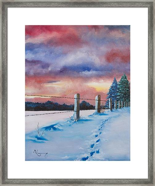 Rich Wintertide Framed Print