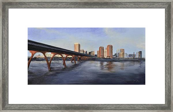 Richmond Virginia Skyline Framed Print