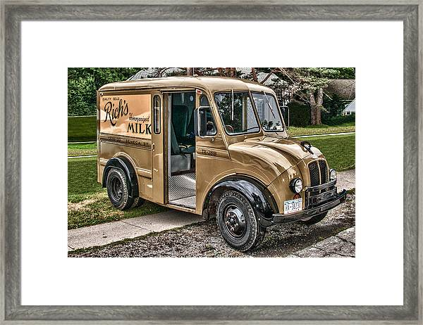 Rich's Milk Framed Print