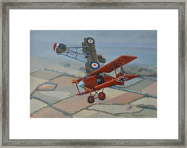 Richtofen And Hawker Combat Framed Print