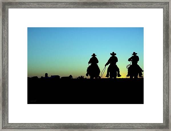 Ride 'em Cowboy Framed Print