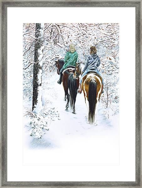 Ride Into Faerieland Framed Print