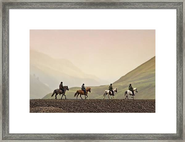 Ride Into My Mind Framed Print