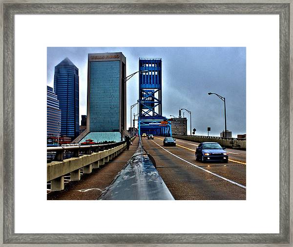 Ride The Rail Framed Print