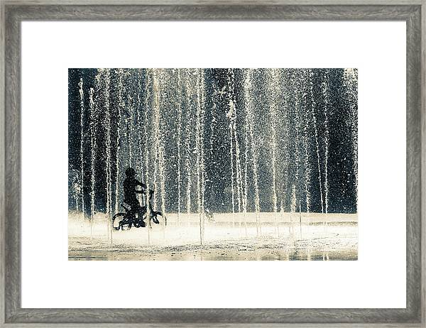 Ride Through The Drops Framed Print