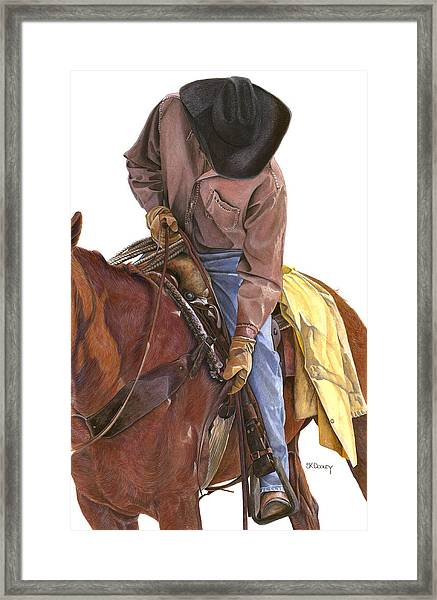 Ride To Raton Framed Print