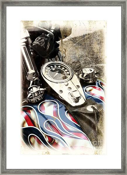Ride With Pride Framed Print