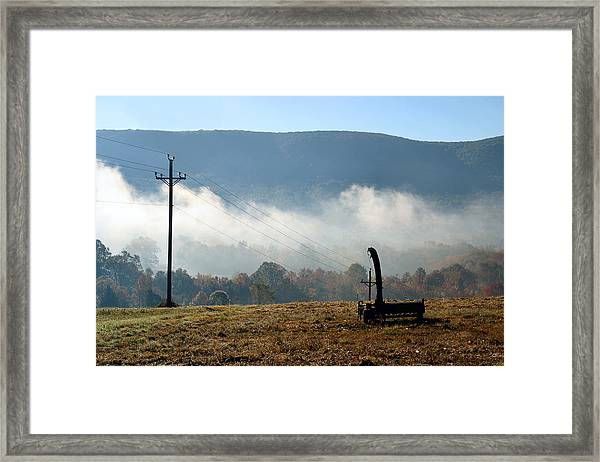 Ridge Line Framed Print