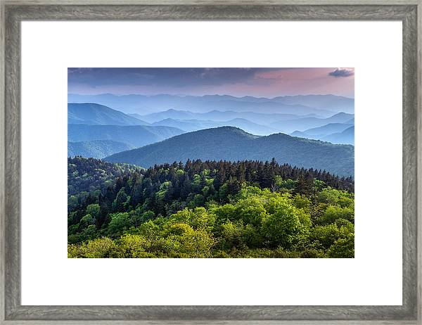 Ridges At Sunset Framed Print