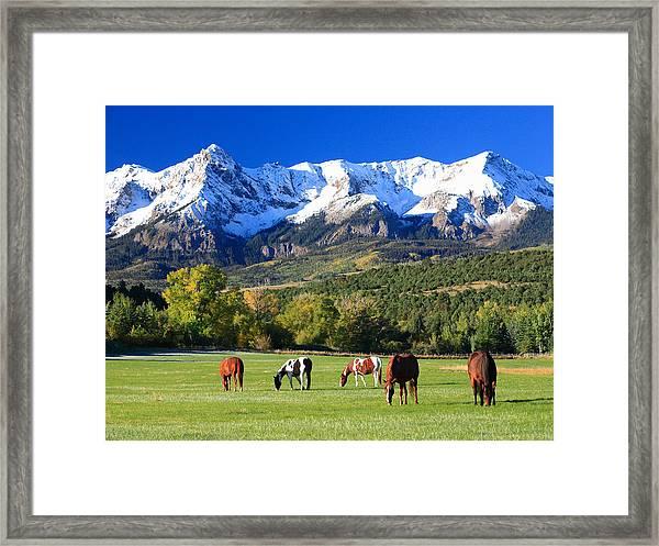 Ridgeway Rl Ranch Framed Print by Robert Yone