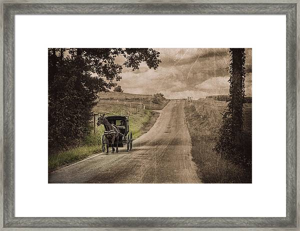 Riding Down A Country Road Framed Print