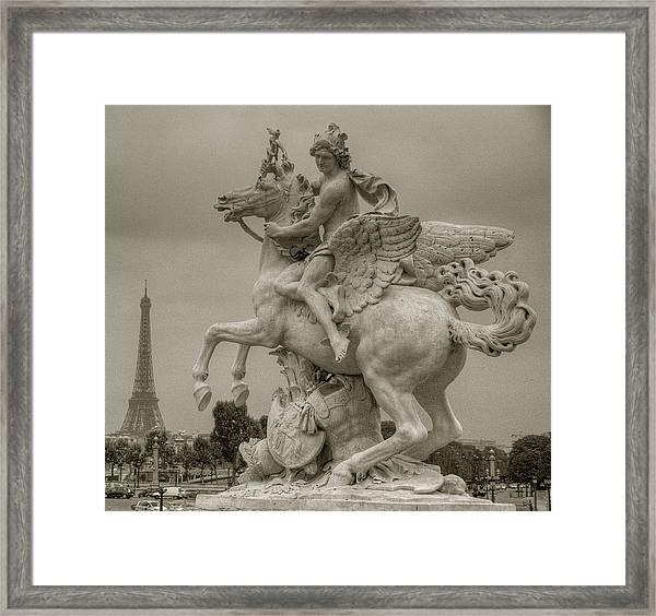Riding Pegasis Framed Print