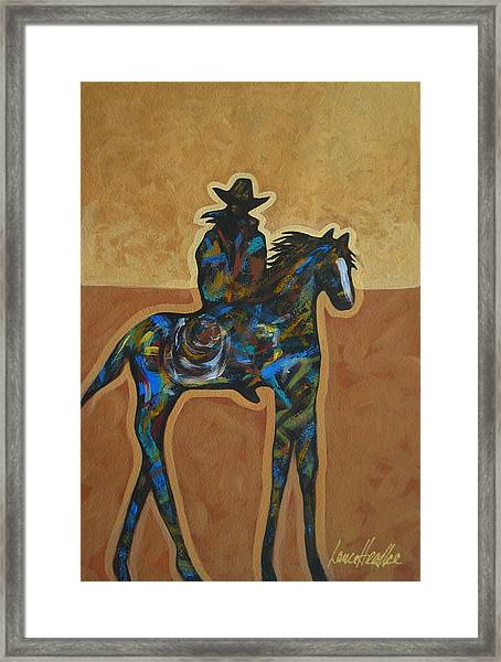 Riding Solo Framed Print